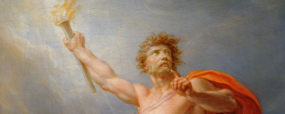 İnsanın Yaratılışı ve Prometheus (Yunan Mitolojisi)