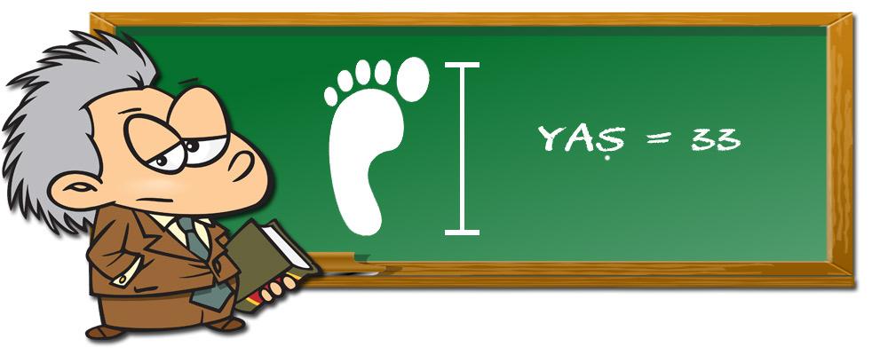 Ayakkabı Numarasından Yaş Hesaplama